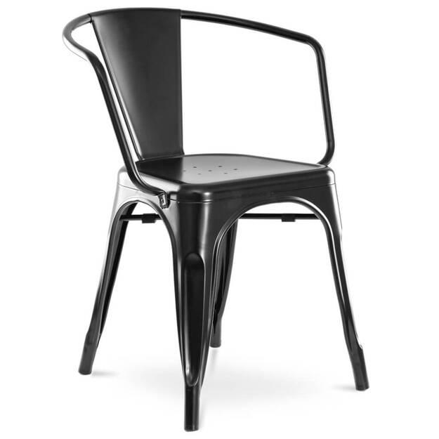 Metalowe Krzesło Claudio W Czarnym Kolorze Meblowniapl