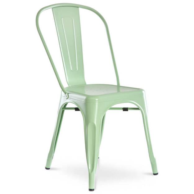 Metalowe Krzesło Alfredo Miętowe
