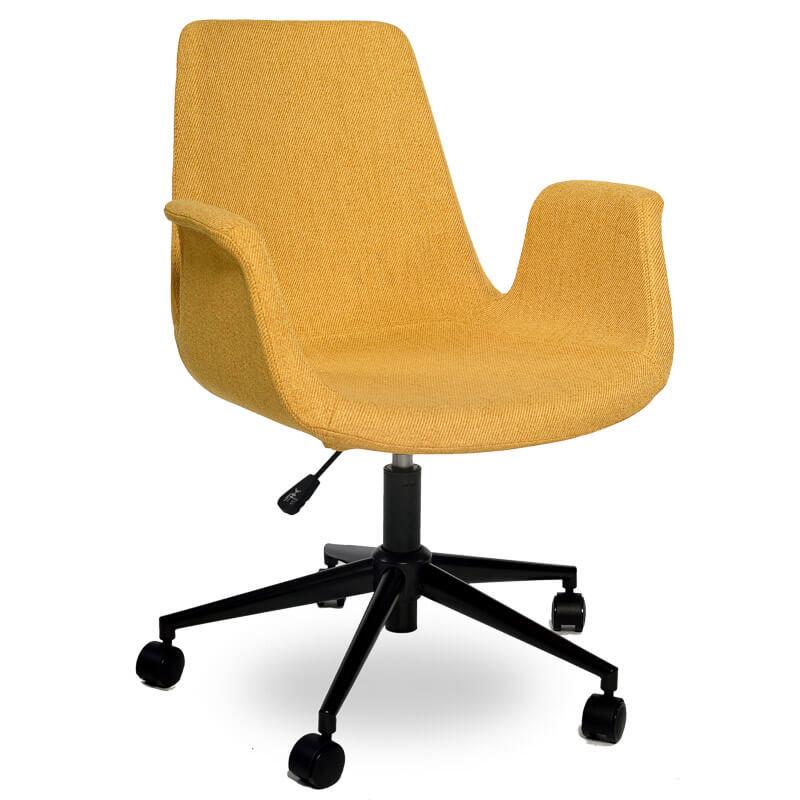 Obrotowe krzesło biurowe ALEX żółte