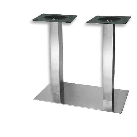Podwójne nogi w podstawie do stołu w kolorze inoxa